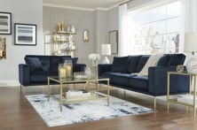 Picture of Macleary Navy 2-Piece Living Room Set