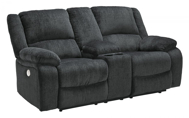 Picture of Draycoll Slate Power Reclining Loveseat with Console