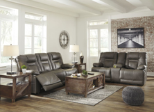 Picture of Wurstrow Smoke 2-Piece Power Living Room Set