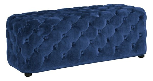 Picture of Lister Blue Accent Ottoman