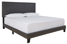 Picture of Vintasso Grayish Brown Upholstered Bed