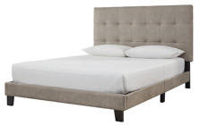 Picture of Arthur Light Brown Upholstered Bed